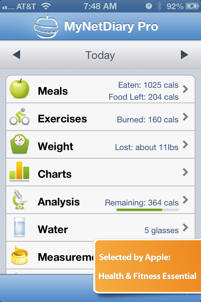 Screenshots Calorie Counter PRO by MyNetDiary