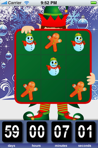 Screenshot Santa's Countdown Clock and Tic-Tac-Toe