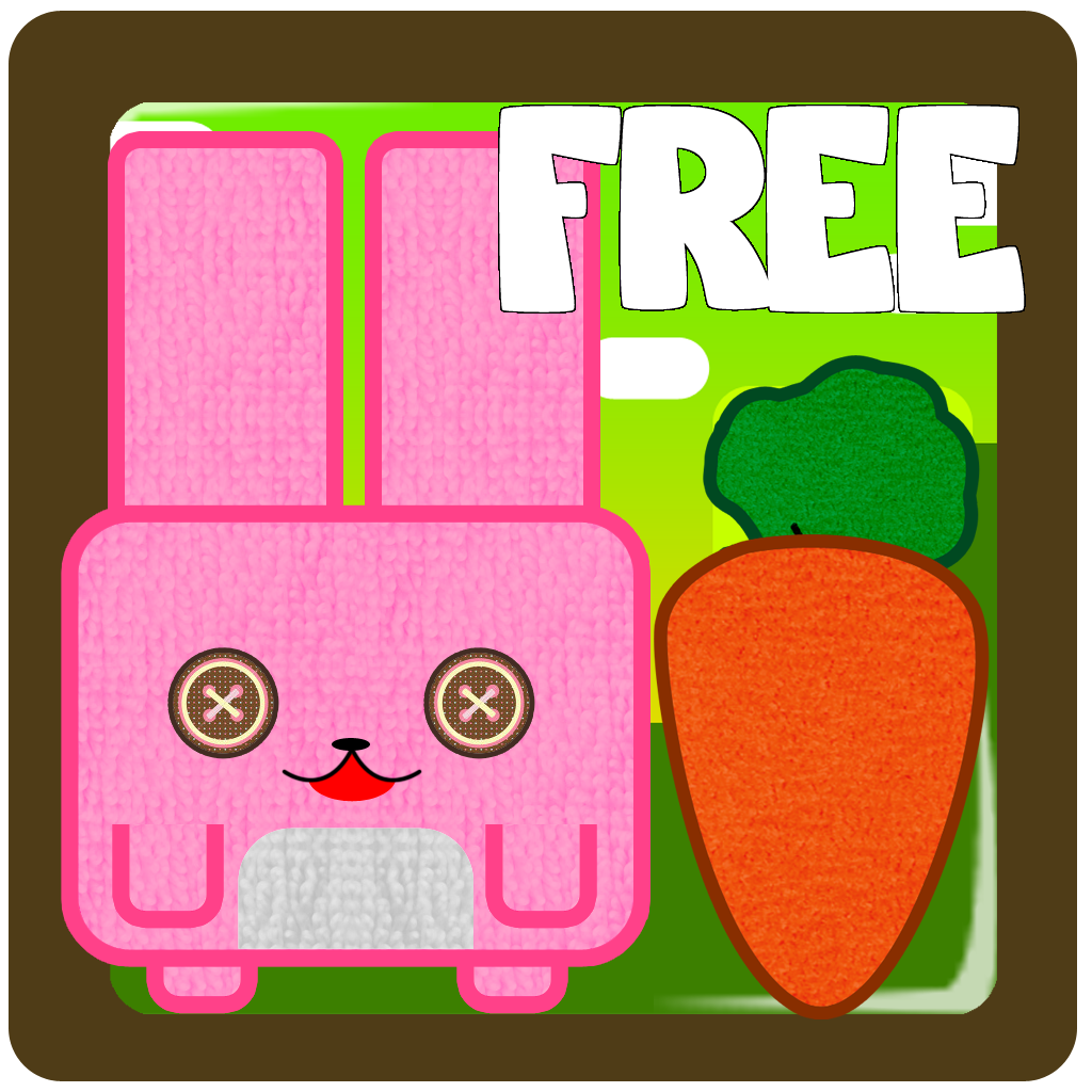 Bunny hill - connect ropes and feed the pink cube rabbit funny game FREE by The Other Games